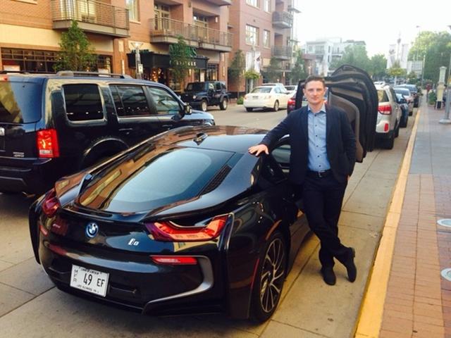 @JustinRose99 Loving my ride to pro-am draw party tonight!!! #BMW #i8 #GermanJamesBondCombo