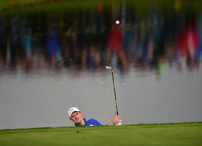 Justin Rose halved his match against Hunter Mahan.