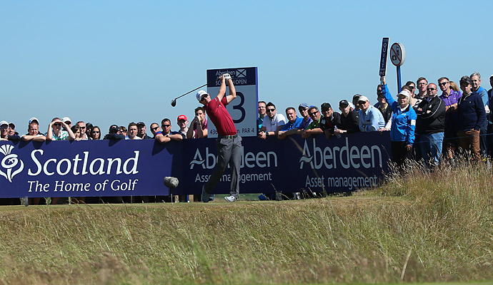 Justin Rose shot a 68 in the second round to get to five under.