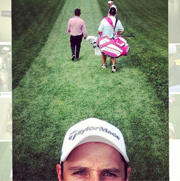 @justinprose99 Practice round with Poults! #uspga #selfie