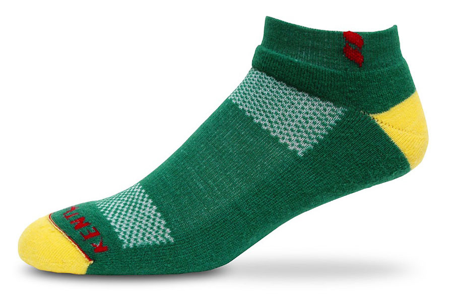 Augusta sock from Kentwool, made with superfine merino wool with cocona moisture management, nylon vents, and extra padding in the foot pads. To be worn by Bubba Watson at the Masters. Available at kentwoolsocks.com ($19.95).