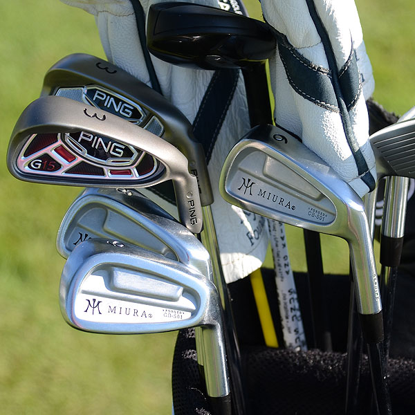 K.J. Choi played Ping irons most of last season but switched to Miura Forged CB-501 cavity back irons. On Wednesday, the Players champion had a Ping G15 and i15 3-iron in his bag along with two Adams Idea Black Super Hybrids.