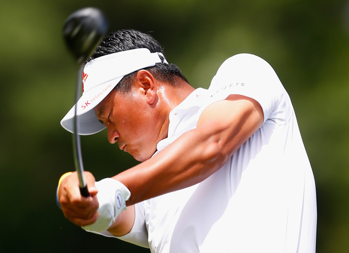 After opening with consecutive 65s, K.J. Choi of South Korea worked for a 1-under 69, mixing up five birdies and four bogeys, good enough to stay in third place.
