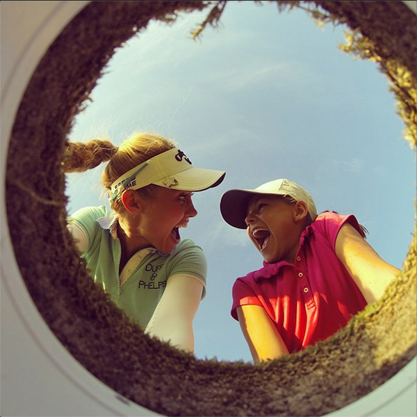 @lpga_tour @ktekey and 9 year-old fan Virginia Anne #LPGAGolfie