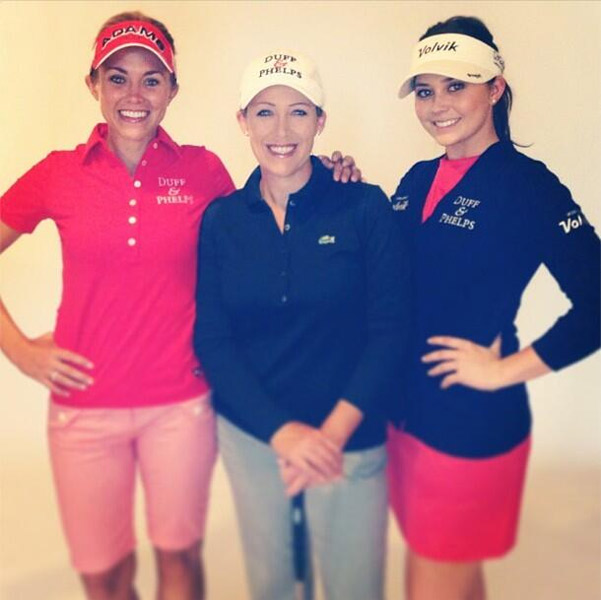 @KTEkey: @AdamsGolfInc SoCal photo shoot all smiles! @NicoleCastrale @Gerinapiller - thanks @pukkainc @gfore @duffandphelps