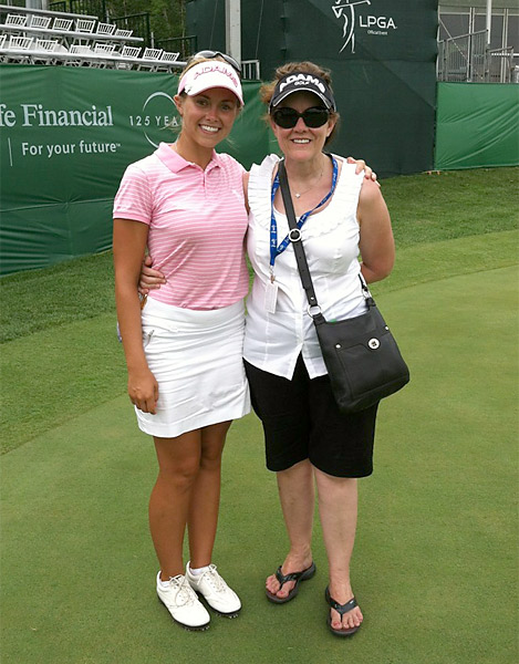 @KTEkey: Momma and me sporting our @pukkaheadwear @lpga