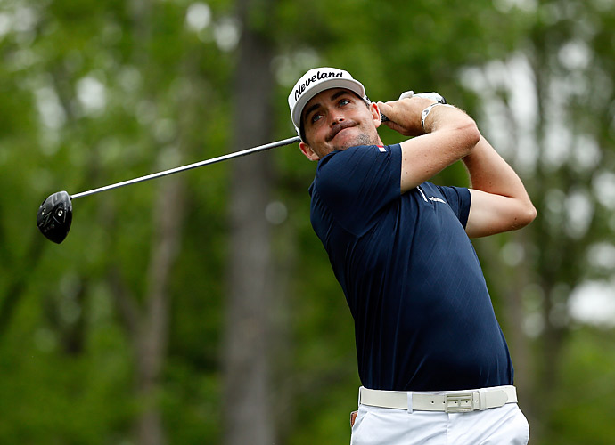 Keegan Bradley was tied for the lead early after shooting a six-under 66 in the morning.