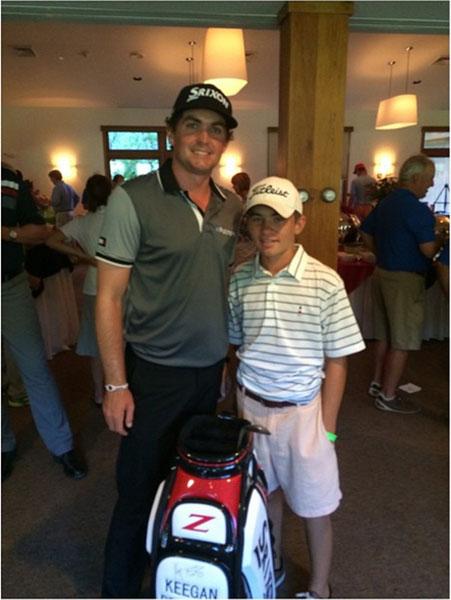 @keeganbradley1 My man @jackod21 won my golf bag today at the #keeganbradleycharityclassic #keepgrinding