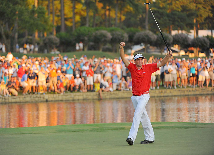 Keegan Bradley won the 2011 PGA at the Atlanta Athletic Club after defeating Jason Dufner in a three-hole playoff. It was Bradley's first major, but Dufner rebounded to get his two years later at the 2013 PGA.