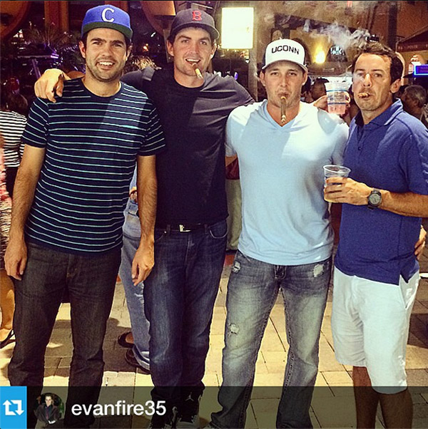 "@keeganbradley1 #Repost from @evanfire35 with @repostapp ---paint it #21 When the ""rock"" gets hard, we get harder. #takingthejointdown #cohiba"