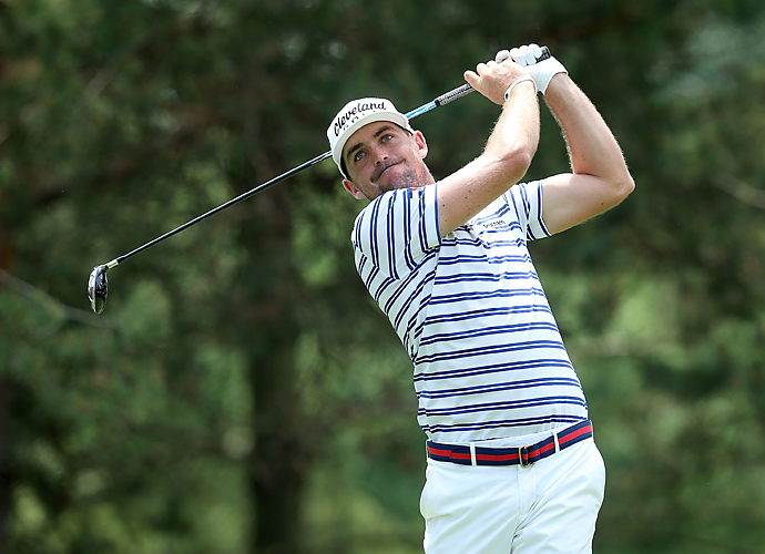 Keegan Bradley played with Woods and Couples and shot a 71.