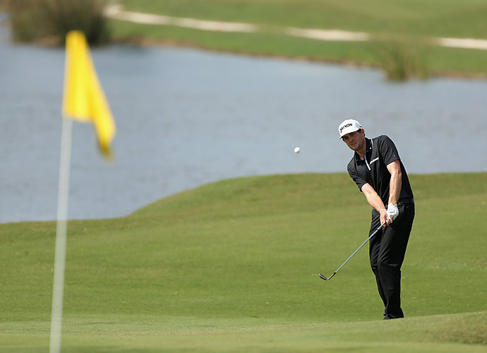 Keegan Bradley was three under on Thursday.