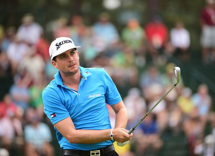 """Keegan Bradley shot a 1-under 69 in his second round and was eight shots back of leader Martin Kaymer. """"I played with Martin these first two days, he's playing so good. It's fun to watch. I played well as well, but it was fun watching him hit every fairway, every green and make every putt, it was pretty awesome."""