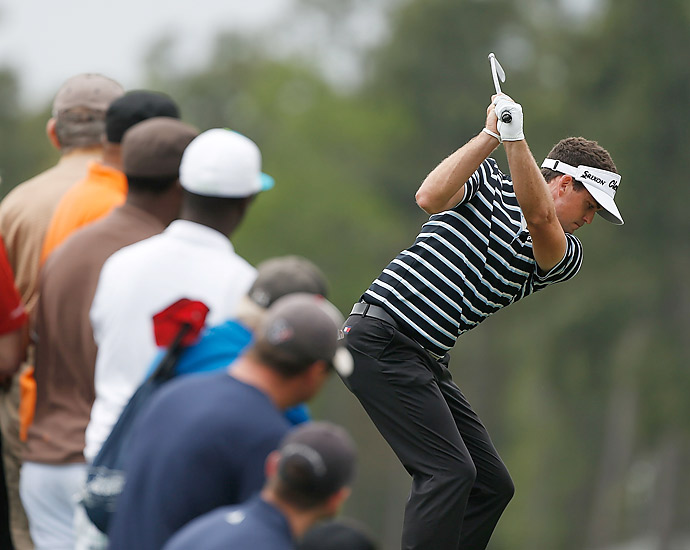 Keegan Bradley got off to a good start and finished with a 70.