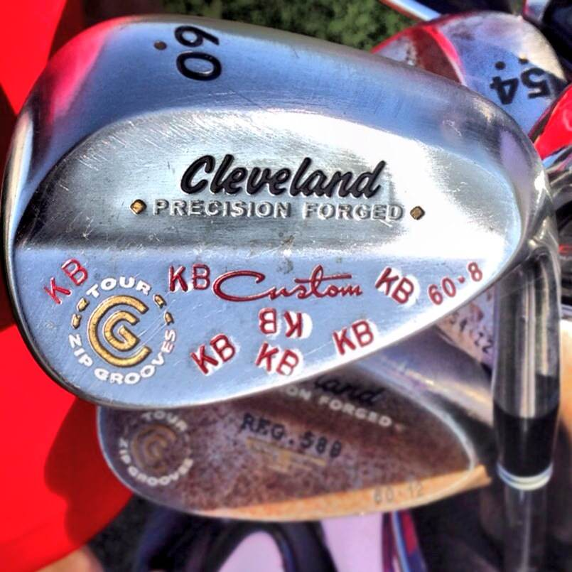 Is Keegan Bradley's 60° Cleveland wedge a nod to his favorite baseball team (the Boston Red Sox) or his alma mater (St. John's)?