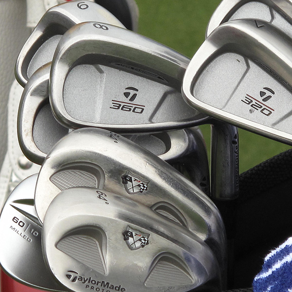 passes on the latest technology and uses TaylorMade's 320 and 360 irons.