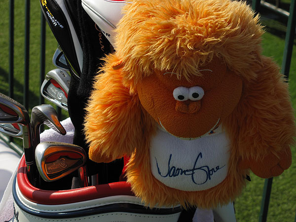 is big-hitting PGA professional at Cherokee Town & Country Club in Roswell, Ga. If you are going to carry a driver headcover that looks like a buck-toothed muppet, you'd better be able to hit the ball a long way.