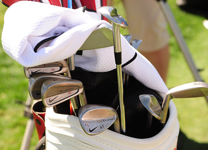 Kevin Chappell's bag is filled with forged Nike irons.