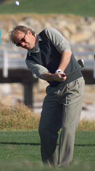Costner won the 2001 Pebble Pro-Am with pro partner Glen Campbell.