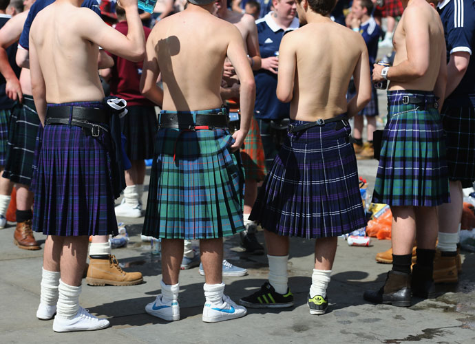 Men in Skirts                         Let this kilt-wearing country be your safe place. No longer does your urge to cross-dress need to be a source of shame.