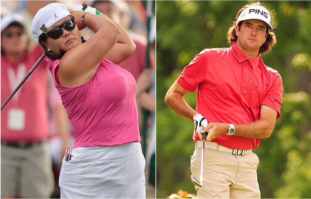 "Christina Kim vs. Bubba Watson                           Shortly after Watson's comments in France, Christina Kim took to Twitter to scold the PGA Tour pro, calling him ""disingenuous"" and adding: ""I don't claim to be a redneck, then go buy a pink Ferrari and floor seats to the Suns in my true religion jeans and Louis Vuitton wallet."""