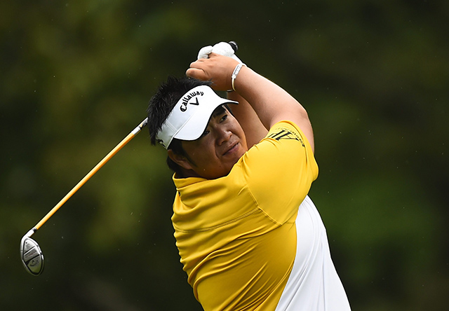 Kiradech AphibarnratThailand's Aphibarnrat withdrew after just eight holes in Friday's second round, citing a knee injury.