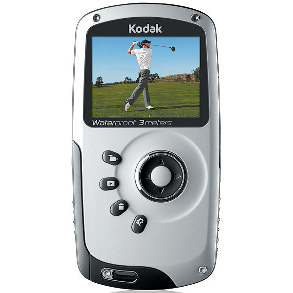 $150, kodak.com                           The Kodak Playsport video camera is small enough to fit in your pocket, shoots razor-sharp HD video (1080p), has image stabilization and is waterproof down to 10 feet in case seeing your swing for the first time inspires you to chuck it into a lake. At home you can plug it into your TV using an included HDMI cable or plug it into your computer (PC or Mac) and use the included software to see and print nine-image swing sequences you can take to your pro.