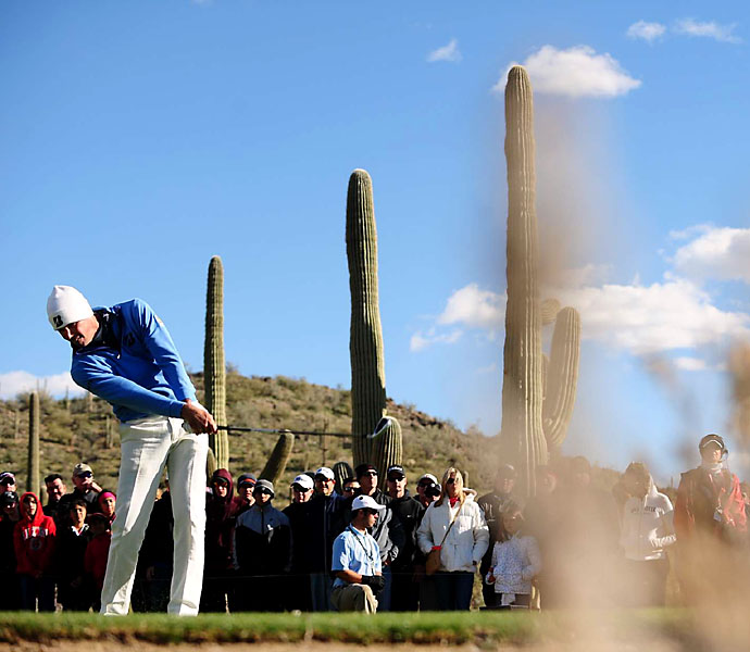 Matt Kuchar won the 2013 WGC-Accenture Match Play Championship, beating Hunter Mahan 2 and 1.