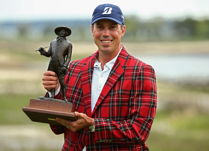 Matt Kuchar, fired a 7-under 64 on Sunday to come from four strokes back to win the 2014 RBC Heritage at Harbour Town Golf Links in Hilton Head, S.C.