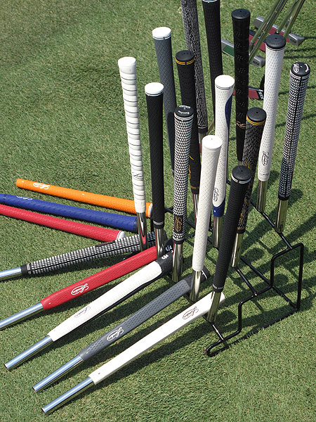 Lamkin had plenty of grips for the pros to try.
