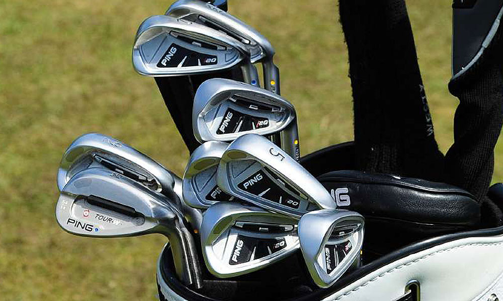 Lee Westwood switched to Ping i20 irons before the U.S. Open, and he has them in play at the British Open.