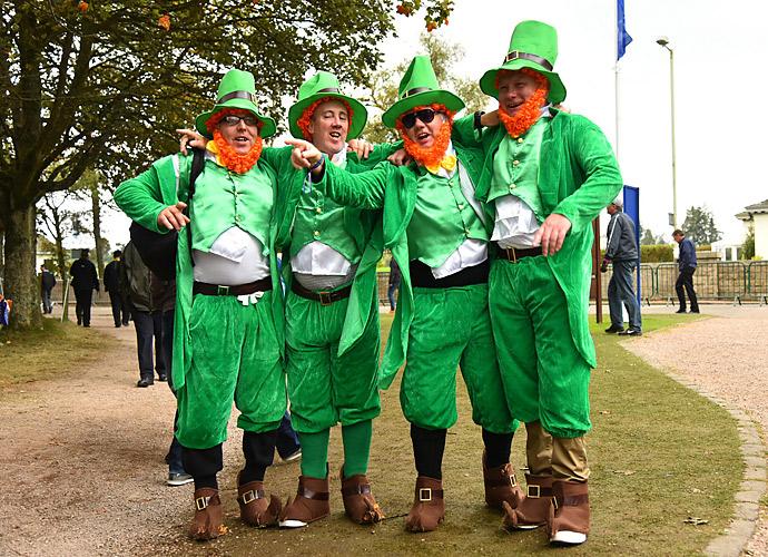 Four leprechauns showed up at Gleneagles for the celebration.