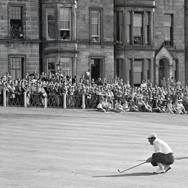 1949 (Royal St. George's)                       <br>1950 (Royal Troon)                       <br>1952 (Royal Lytham)                       <br>1957 (St. Andrews)
