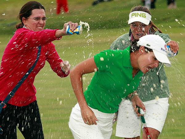 Ochoa was showered in suds after winning the 2009 Navistar LPGA Classic at the Robert Trent Jones Golf Trail in Prattville, Ala. The win would be Ochoa's last before announcing her retirement in April of 2010.