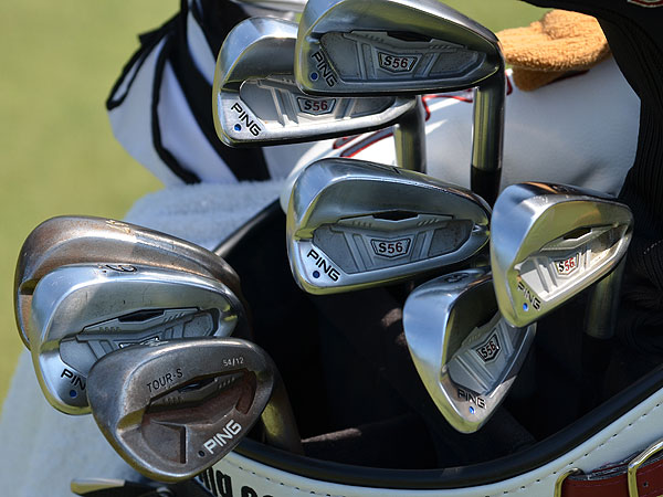 Louis Oosthuizen switched to Ping S56 irons just days before winning the 2010 British Open at St. Andrews. Those clubs are still in his bag this week at Congressional.