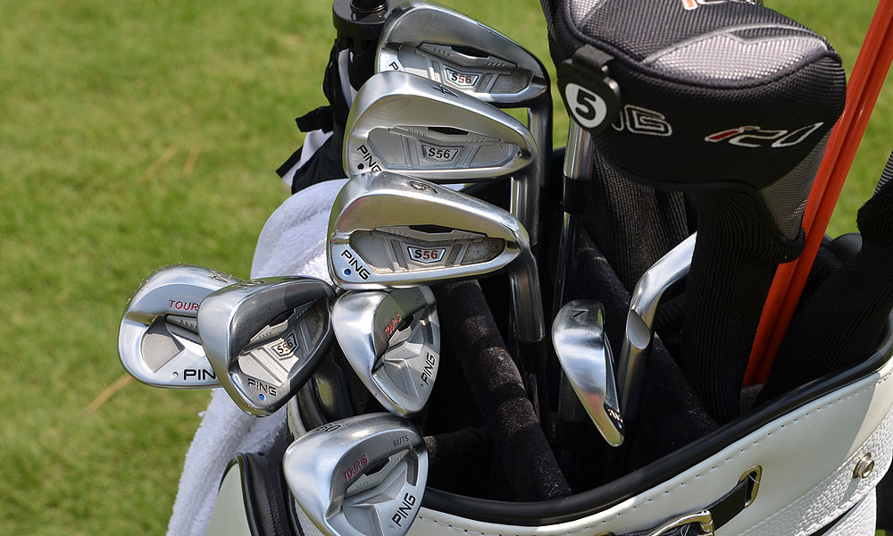 Louis Oosthuzien plays Ping's S56 irons and Forged Anser wedges.
