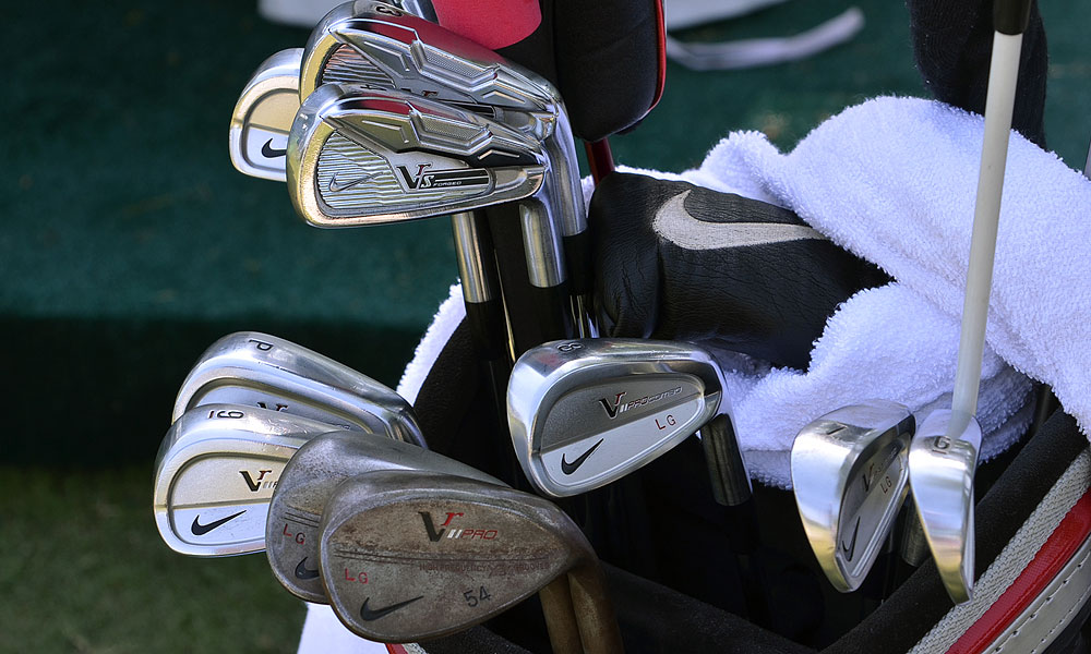 Lucas Glover compliments his Nike VR Pro Combo mid- and short irons with Nike VR_S 3- and 4-irons and VR Pro wedges.