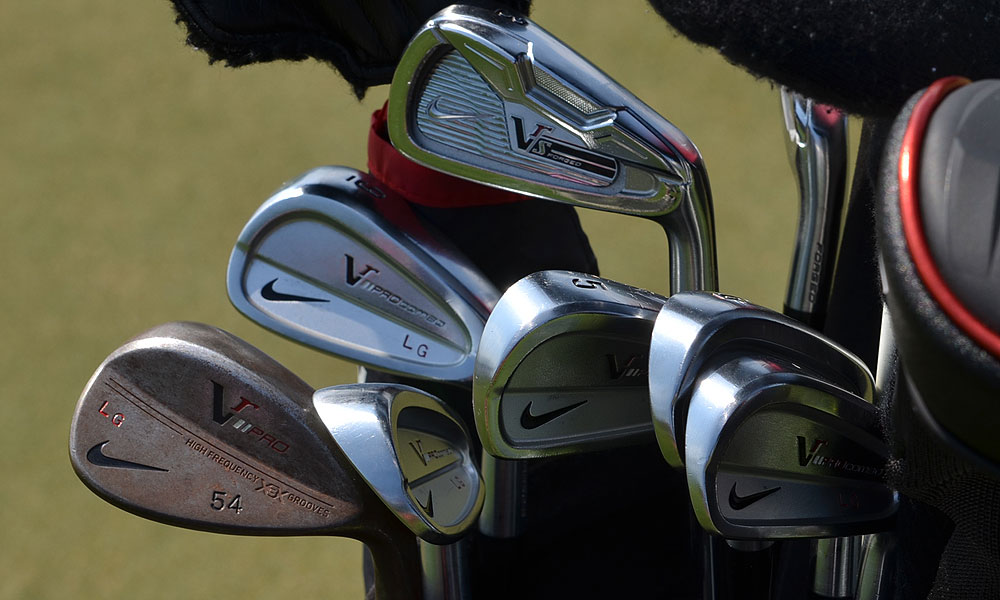 Lucas Glover added a Nike VR_S Forged iron to his set of Nike's VR Pro Combo irons.
