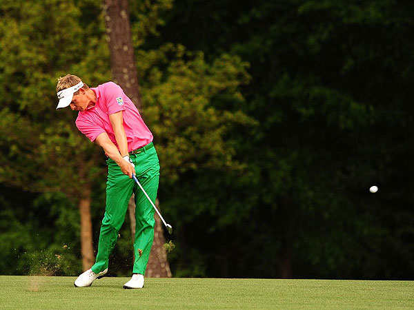 may be one of the steadiest players, but on Saturday he was                           among the most daring looking – in Ralph Lauren                           pink and green, two colors, by the way, that are often on surprisingly                           friendly terms.