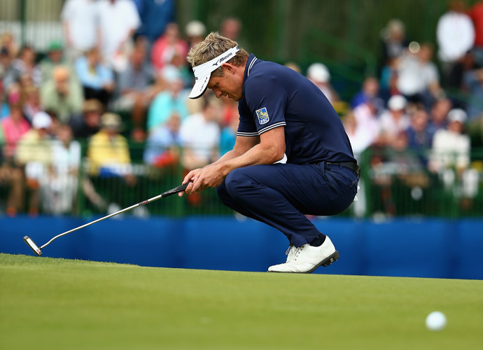 54-hole-leader Luke Donald, had a few chances to catch Kuchar and force a playoff, none better than on No. 17. His birdie putt ran an inch to the right of the hole.
