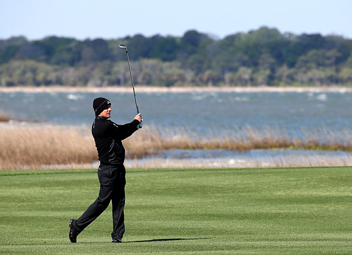 Luke Donald was two over on the front nine.