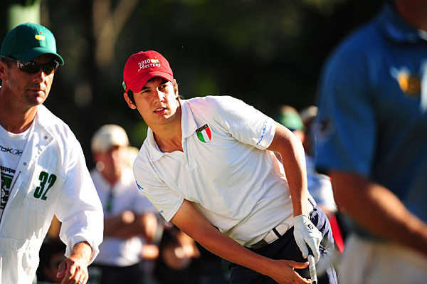a 16-year-old Italian, was low amateur and made the cut.