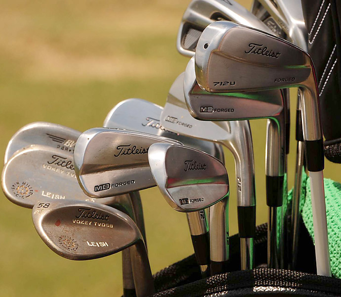 "Marc ""LEISH"" Leishman plays Titleist Forged MB irons."