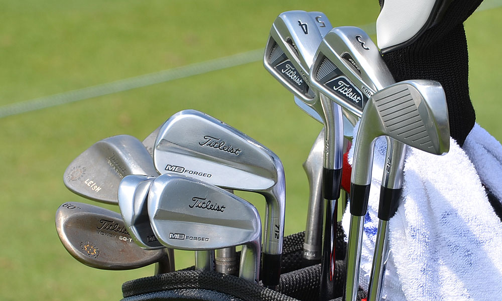 Marc Leishman plays Titleist's Forged 712 MB irons, but his 3-iron and 4-iron are Titleist Forged 712 AP2s.