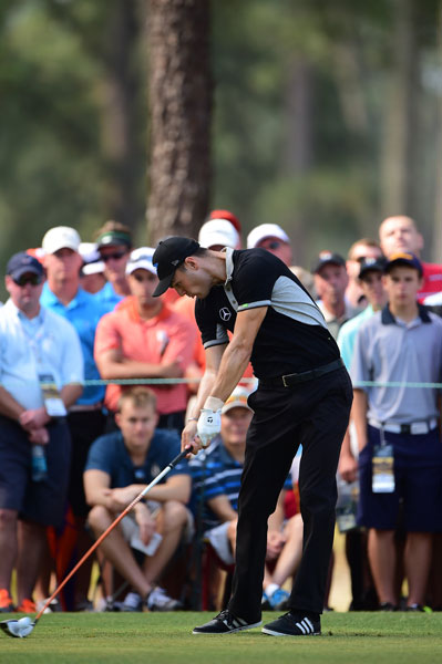 """Kaymer has made just one bogey through his first 36 holes. """"I said to my caddie as well, there were a couple of shots today that I was surprised how good they were,"""" he said. """"So I'm just hitting the ball very solid right now and I think it's important to keep going and not try to relax. And there's still a lot of stuff to improve on, but the way I played now is quite nice."""""""