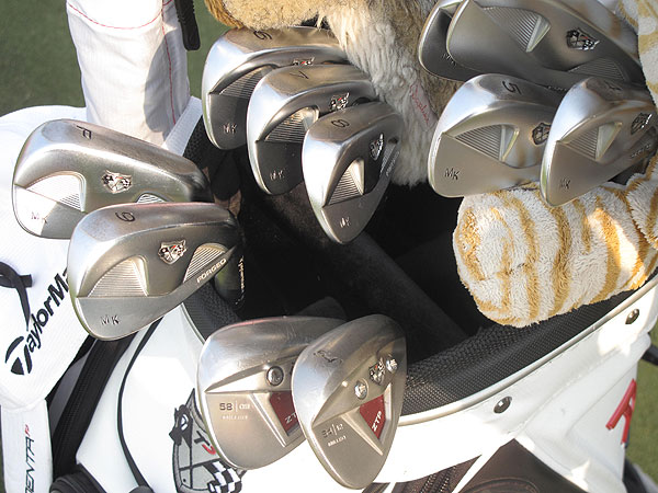 Martin Kaymer still plays a classic-looking set of TaylorMade RAC MB TP irons.