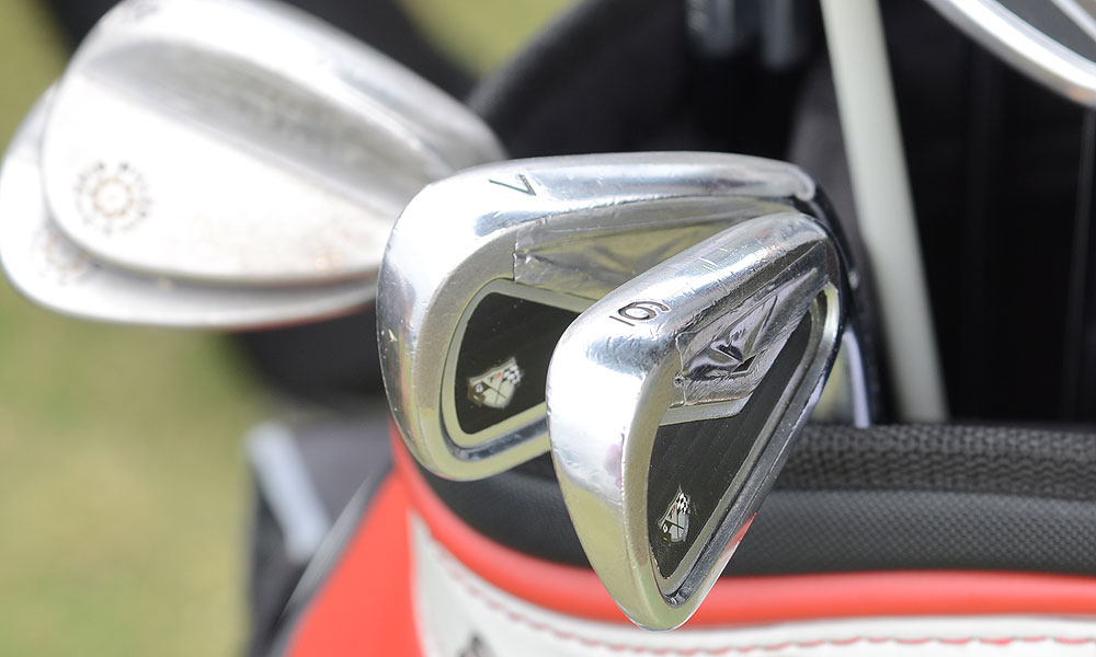 Martin Laird uses TaylorMade R9 TP short irons, but his long irons are TaylorMade Tour Preferred.