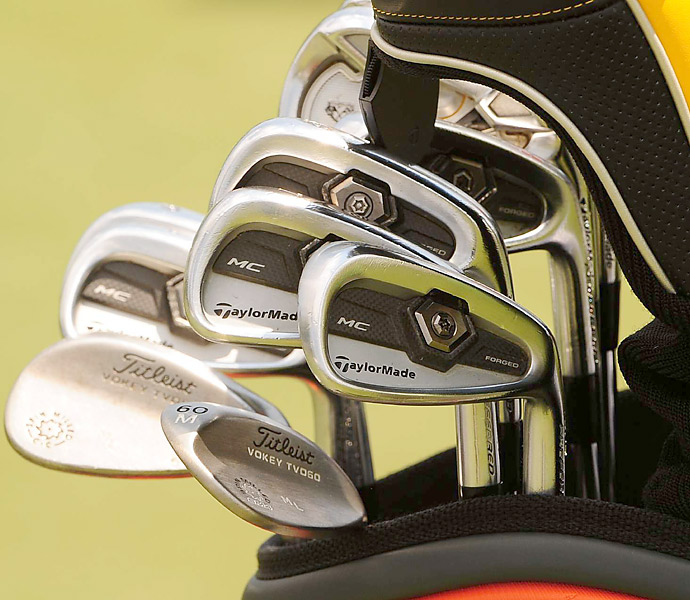 Martin Laird matches his TaylorMade Tour Preferred MC irons with Titleist Vokey wedges.