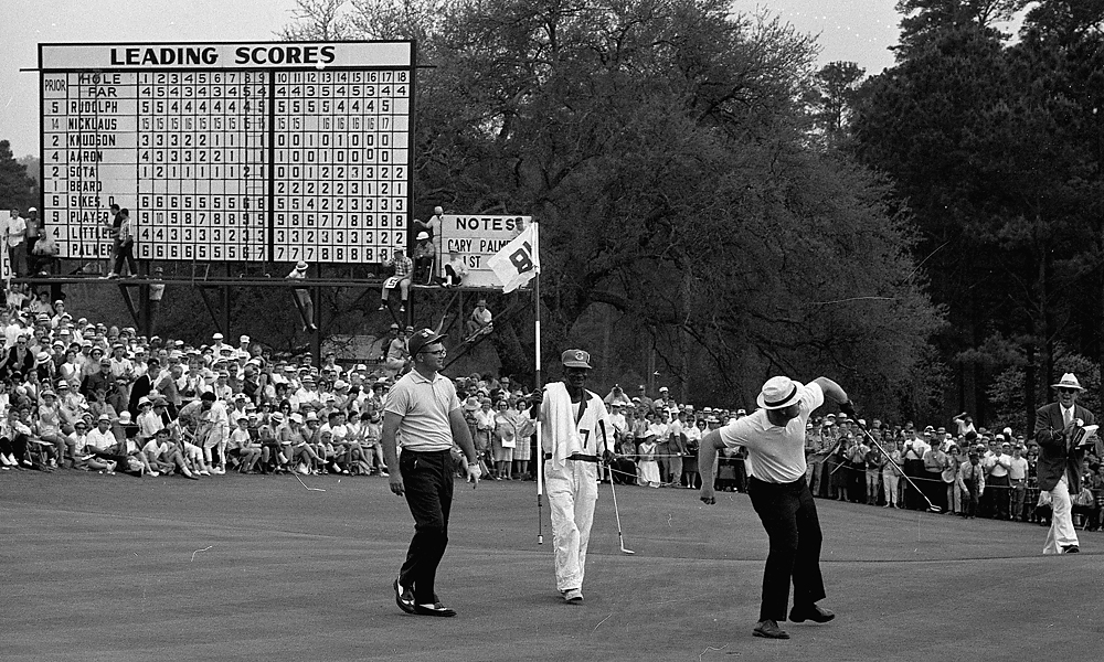 Jack Nicklaus, 1965 Masters: 9 shots                       Nicklaus ran away from a legendary field in the 1965 Masters, beating runners up Arnold Palmer and Gary Player by nine shots. Read More...
