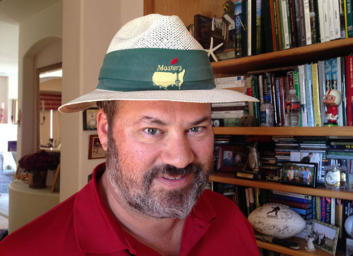 This Masters hat belonged to my wife's father, Don Ryan, who loved his golf. He was an early founder of the PGA Tour's Hartford stop, the Insurance City Open (now Travelers Championship) and kicked in funds to help Julius Boros' career. He left us too soon, in 2000, but I was lucky enough to tee it up with him before he closed up shop.